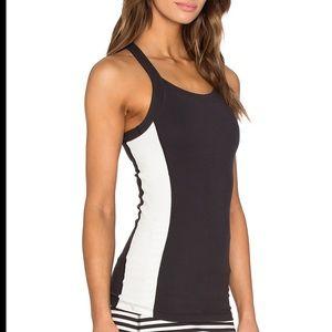 Kate Spade X halter bow cami black & white